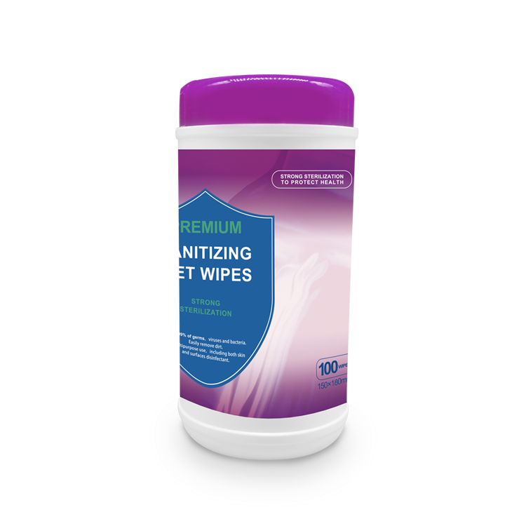 Sanitizing Wet Wipes 100 pcs canister packing Alcohol Free